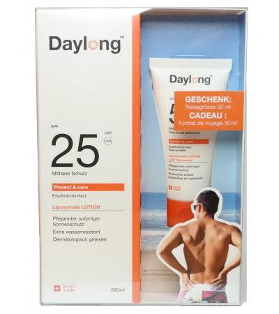 Daylong 25 protect & care - Tube 200 ml + gratis 50ml Tube