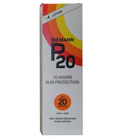 P 20 Riemann Sun Protection - SPF 20 - Lotion 100ml
